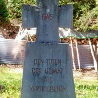 Gedenkkreuz am ehemaligen Pestfriedhof Bertoldshofen