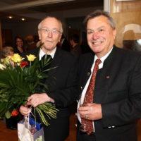 2011 - Empfang im Pfarrheim zum 90. Geburtstag von Alwin Holdenrieder - Altbürgermeister Wolfgang Weinmüller